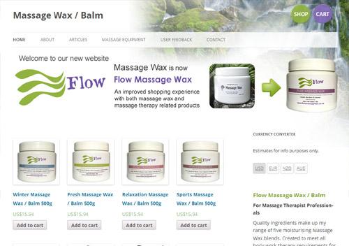 Flow massage wax