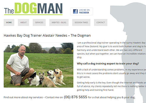 Hawkes Bay Dog Trainer Alastair Needes