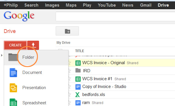 Create And Share A Folder In Google Drive Hawkes Bay Web Design