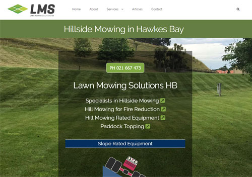 Hawkes Bay Hill Mowing